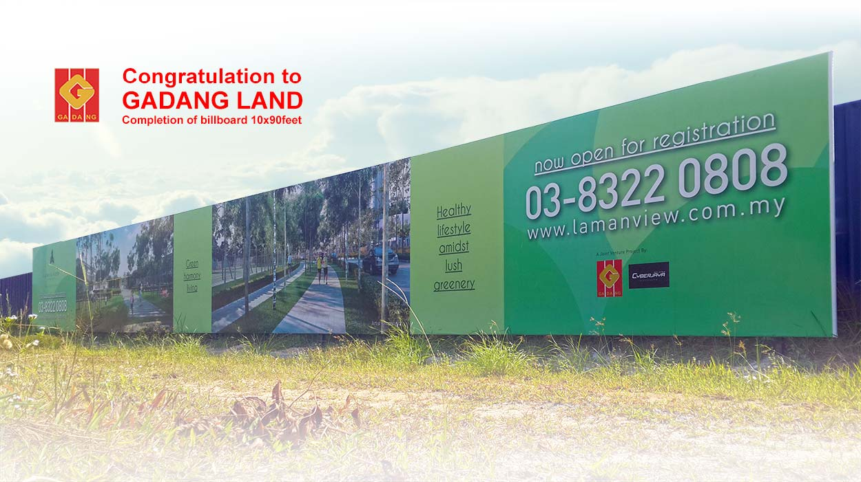 Gadang Land Billboard on feild 1
